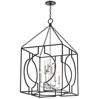 Octavio 8 Light 24 inch Aged Iron and Polished Nickel Pendant Ceiling Light