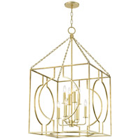 Hudson Valley 9224-GL Octavio 8 Light 24 inch Gold Leaf Pendant Ceiling Light