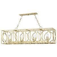 Octavio 8 Light 46 inch Gold Leaf Island Light Ceiling Light