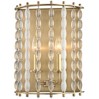 Hudson Valley 9300-AGB Whitestone 2 Light 11 inch Aged Brass Wall Sconce Wall Light Crystal Beads and Finials