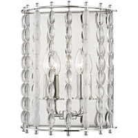 Hudson Valley 9300-PN Whitestone 2 Light 11 inch Polished Nickel Wall Sconce Wall Light Crystal Beads and Finials