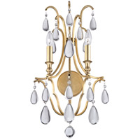 Hudson Valley Lighting Crawford 2 Light Wall Sconce in Aged Brass 9302-AGB
