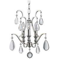 Hudson Valley 9303-PN Crawford 3 Light 13 inch Polished Nickel Semi Flush Ceiling Light