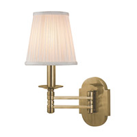 Hudson Valley Lighting Ravena 1 Light Wall Sconce in Aged Brass 9310-AGB