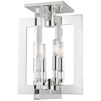 Wellington 4 Light 12 inch Polished Nickel Flush Mount Ceiling Light