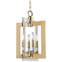 Wellington 4 Light 12 inch Aged Brass Pendant Ceiling Light