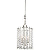 Hudson Valley 9313-PN Whitestone 3 Light 11 inch Polished Nickel Pendant Ceiling Light Crystal Beads and Finials