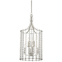 Hudson Valley 9318-PN Whitestone 8 Light 16 inch Polished Nickel Pendant Ceiling Light Crystal Beads and Finials