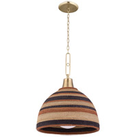 Hudson Valley 9320-AGB Lido Beach 1 Light 20 inch Aged Brass Pendant Ceiling Light