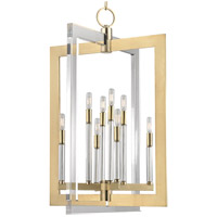 Hudson Valley Lighting Wellington 8 Light Pendant in Aged Brass 9323-AGB