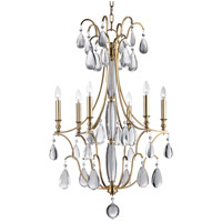 Hudson Valley 9324-AGB Crawford 6 Light 24 inch Aged Brass Chandelier Ceiling Light