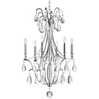 Hudson Valley 9324-PN Crawford 6 Light 24 inch Polished Nickel Chandelier Ceiling Light