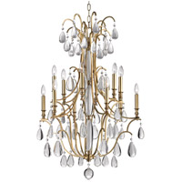 Crawford 12 Light 31 inch Aged Brass Chandelier Ceiling Light