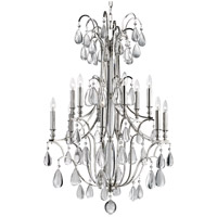 Crawford 12 Light 31 inch Polished Nickel Chandelier Ceiling Light
