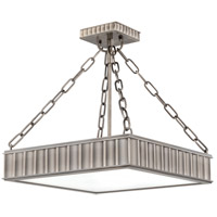 Middlebury 3 Light 16 inch Historic Nickel Semi Flush Ceiling Light