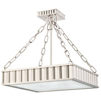 Hudson Valley 933-PN Middlebury 3 Light 16 inch Polished Nickel Semi Flush Ceiling Light