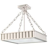 Hudson Valley 933-PN Middlebury 3 Light 16 inch Polished Nickel Semi Flush Ceiling Light