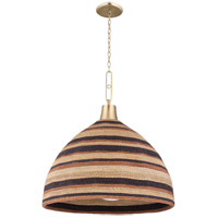 Hudson Valley 9330-AGB Lido Beach 1 Light 30 inch Aged Brass Pendant Ceiling Light