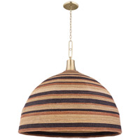 Hudson Valley 9340-AGB Lido Beach 1 Light 40 inch Aged Brass Pendant Ceiling Light