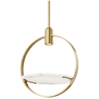 Hudson Valley Lighting Branford Semi Flush in Aged Brass 9400-AGB