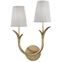 Deering 2 Light 11 inch Aged Brass Wall Sconce Wall Light in Left