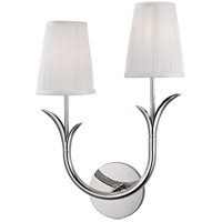 Hudson Valley 9402L-PN Deering 2 Light 11 inch Polished Nickel Wall Sconce Wall Light in Left