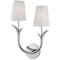 Deering 2 Light 11 inch Polished Nickel Wall Sconce Wall Light in Right