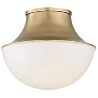 Lettie LED 11 inch Aged Brass Flush Mount Ceiling Light, Small