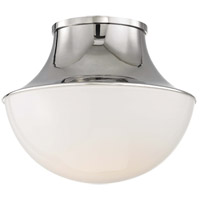 Lettie LED 11 inch Polished Nickel Flush Mount Ceiling Light, Small