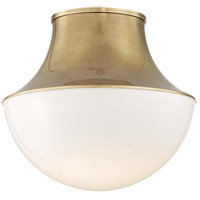 Lettie LED 15 inch Aged Brass Flush Mount Ceiling Light, Large
