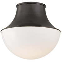 Lettie LED 15 inch Old Bronze Flush Mount Ceiling Light, Large