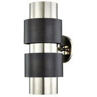 Cyrus 2 Light 6 inch Polished Nickel and Old Bronze Wall Sconce Wall Light