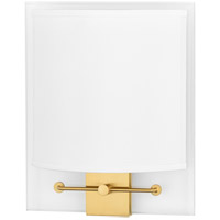 Peoria 2 Light 9 inch Aged Brass ADA Wall Sconce Wall Light