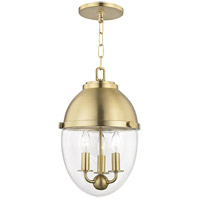 Hudson Valley 9511-AGB Kennedy 3 Light 10 inch Aged Brass Pendant Ceiling Light