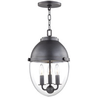 Kennedy 3 Light 10 inch Old Bronze Pendant Ceiling Light