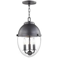 Hudson Valley 9511-OB Kennedy 3 Light 10 inch Old Bronze Pendant Ceiling Light