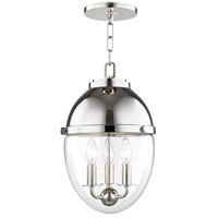 Kennedy 3 Light 10 inch Polished Nickel Pendant Ceiling Light