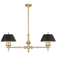 Hudson Valley 9512-AGB Cheshire 6 Light 50 inch Aged Brass Island Light Ceiling Light