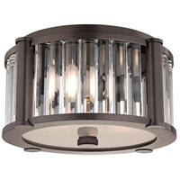 Hartland 2 Light 12 inch Old Bronze Flush Mount Ceiling Light