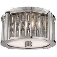 Hartland 2 Light 12 inch Polished Nickel Flush Mount Ceiling Light