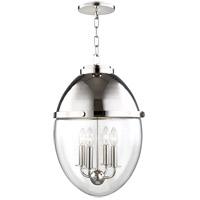 Hudson Valley 9514-PN Kennedy 4 Light 14 inch Polished Nickel Pendant Ceiling Light