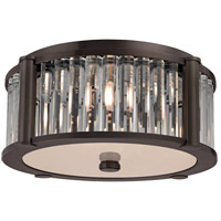 Hartland 3 Light 15 inch Old Bronze Flush Mount Ceiling Light