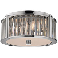Hartland 3 Light 15 inch Polished Nickel Flush Mount Ceiling Light