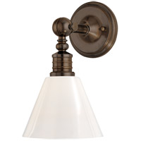 Hudson Valley Lighting Darien 1 Light Wall Sconce in Distressed Bronze 9601-DB