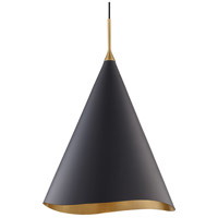 Hudson Valley 9618-GL/BLK Martini 1 Light 18 inch Gold Leaf / Black Pendant Ceiling Light
