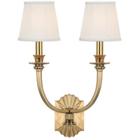 Hudson Valley 962-AGB Alden 2 Light 15 inch Aged Brass Wall Sconce Wall Light photo thumbnail