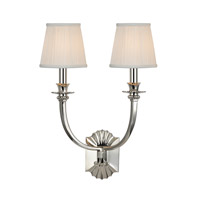 Alden 2 Light 15 inch Polished Nickel Wall Sconce Wall Light