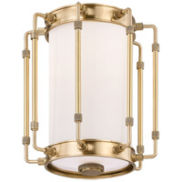 Hudson Valley 9709-AGB Hyde Park LED 9 inch Aged Brass Flush Mount Ceiling Light White