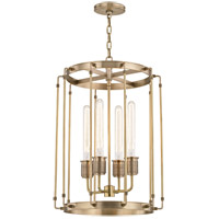 Hudson Valley 9716-AGB Hyde Park 4 Light 16 inch Aged Brass Pendant Ceiling Light