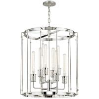Hudson Valley 9722-PN Hyde Park 8 Light 22 inch Polished Nickel Pendant Ceiling Light